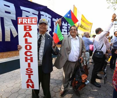 'Down Down Pakistan', 'Free Balochistan' chants for Sharif outside UNGA