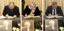 More Syrian officials offer condolences over death of Rafsanjani at Iranian Embassy