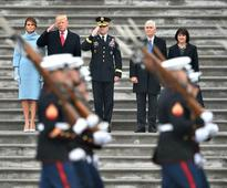 President Donald J. Trump Reviews Troops at Capitol in First Duty as Commander-in-Chief