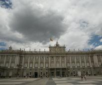 Spanish Queen Letizia examines renovations at 18th century Royal Palace of Madrid