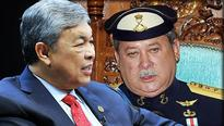 Zahid has an audience with the Sultan of Johor