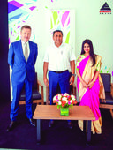 Embassy Group launches Embassy Springs Jitu Virwani (centre) with Reeza Sebastian (right) and Mike Holland, CEO of ...