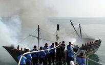 Coast Guard Ship rescues distressed fishermen boat in Porbandar