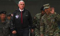 All options on table with North Korea: Mike Pence at demilitarised zone