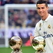 WATCH: Cristiano Ronaldo flaunts his 4 Ballon d'Or trophies as Owen, Figo, Luis Ronaldo, Zidane applaud