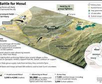 Iraqi Kurds battle IS shadows in Mosul push