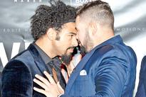 Boxing: David Haye punches Tony Bellew during press conference