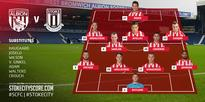 Team line-ups: West Brom v Stoke City