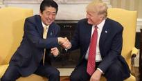 Shinzo Abe and Trump would meet in April to put pressure on North Korea for denuclerisation
