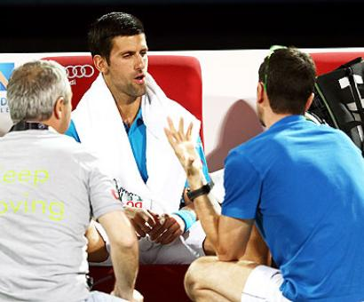 Djokovic retires from Dubai Open, ends streak of 17 successive finals