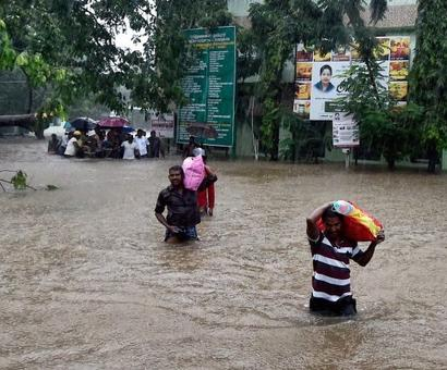 Flood alert sounded as heavy rains lash Chennai, parts of Tamil Nadu