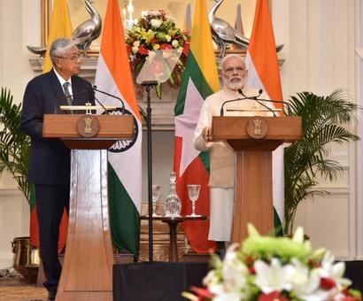 At every step 1.25 billion people of India will stand by Myanmar: PM