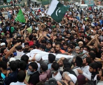 Thousands at terrorist's funeral, day after Kashmir unites against Amarnath attack