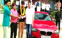 Some Reward This. JEE Topper Gifted BMW by Rajasthan Coaching Institute