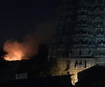 Major fire at Madurai's Meenakshi temple