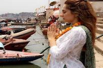 Watch: Anusha Dandekar's reaction on seeing a cow in Varanasi