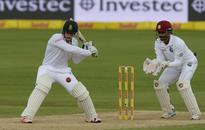 Quinton de Kock ton leads solid SA batting effort against pink ball