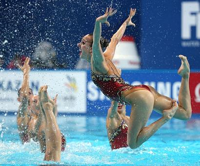 How Russia's synchro stars provide bright contrast their doping scandal