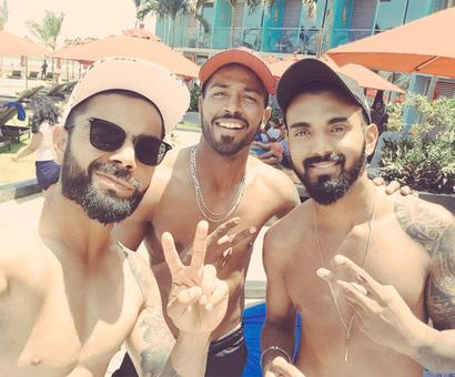 PHOTOS: Kohli & Co. chill out after Galle triumph