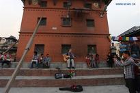 Reconstruction process undergoing in Nepal's Swayambhunath stupa