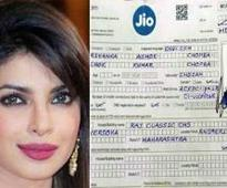 Even Priyanka could not resist the temptation of a Reliance Jio sim?