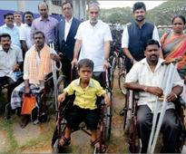 Prosthetic aids distributed to 1070 beneficiaries of district