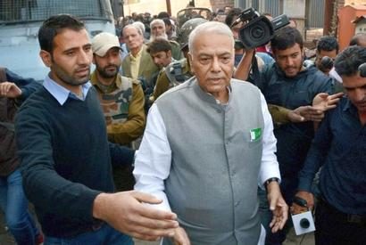 Why doesn't Sinha ask his son to quit the government?