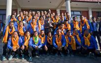 PM Dahal congratulates champion footballers