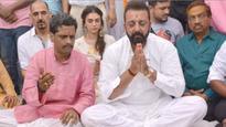 Sanjay Dutt performs Shraadh puja for parents Sunil Dutt and Nargis Dutt in Varanasi