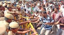 Protests by differently abled choke EVK Sampath road