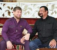 Kadyorv Hosts U.S. Actor Steven Seagal in Grozny (Photos)