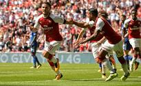 Arsenal edge past London rivals Chelsea on penalties to clinch Community Shield at Wembley