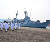 Bangladesh Navy Ship Somudra Avijan on a goodwill visit to Vishakhapatnam