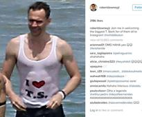Robert Downey Jr. posted the best photo of Tom Hiddleston to Instagram