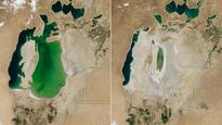 Nasa's satellite images shows Aral Sea is nearly extinct