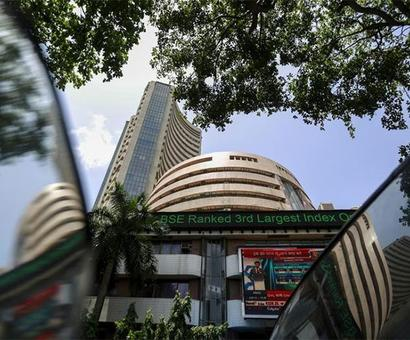 Markets pare intraday gains; Sensex, Nifty end flat