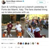 Samuel L Jackson and Magic Johnson unwittingly embroiled in racism row in Italy