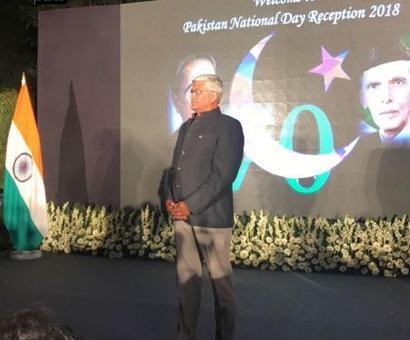 Union minister Gajendra Singh Shekhawat attends Pak National Day