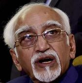 Hamid Ansari cautions against false statistics
