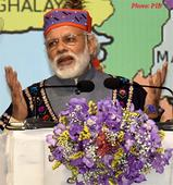 Speech of the Prime Minister Modi at the public meeting in Shillong