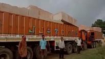 Ayodhya: VHP brings in 3 trucks of stones for construction of Ram Mandir