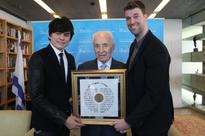 Israel's 9th President Shimon Peres Awards Pastor Joseph Prince with International Relations Award