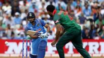 Case studies for psychologists:1. South Africa under pressure.2. Pakistan. Full stop.3. Shikhar Dhawan in ICC tournaments. #IndvBan #CT17— Chetan Narula (@chetannarula) June 15, 2017Delightful straight-drive by Kohli for four. Presented the full fac