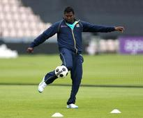 Angelo Mathews set to fly back home with ankle injury