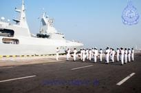South African, Royal Navy of Oman naval ships dock in Sri Lanka