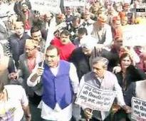 BJP protests over non-payment of salaries to MCD workers