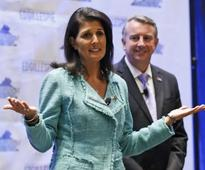 Nikki Haley strikes a contrast to Trump in Virginia campaign event