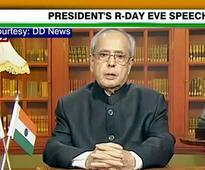 Full text: Pranab Mukherjee addresses nation ahead of ...