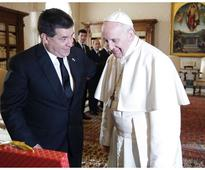 Pope Francis meets with President of Paraguay