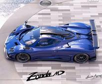 Bespoke Pagani Zonda 760 MD has bluish carbon fiber and huge wing